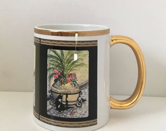 Tuxedo Cat Coffee Mug - Features Cat Fine Art
