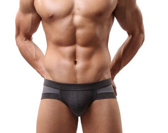 Men Sexy Underwear boxer Shorts FREE SHIPPING Gray Panties mesh Men's Underwear Sexy panties Men briefs