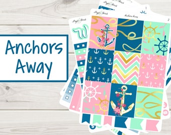 Anchors Away Weekly Kit | Planner Stickers