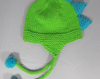 Green/blue dragon hat- baby