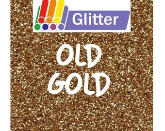 Siser Glitter Heat Transfer Vinyl - Iron On - HTV - Old Gold