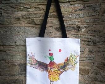 Flapping Pheasant Tote bag