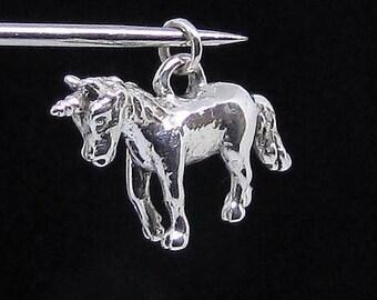 Silver Fantasy Animal pendant Unicorn Sterling silver 925