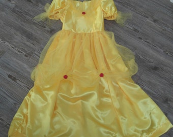 Princess Belle Costume Dress /Princess Belle dress/Beauty and the Beast