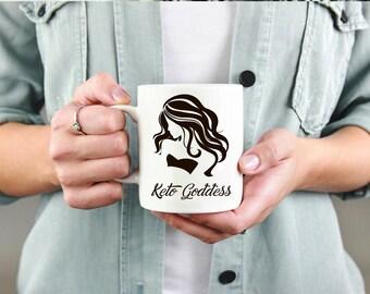 Keto Goddess Mug, Keto Mug, Ketones, Ketogenic Diet, Keto AF, Keto Queen, Keto Gift, Ketosis Mug, Keto Coffee Mug, Bulletproof Coffee Mug