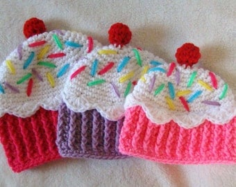 Cupcake Hats, Made to Order / Ice Cream / Handmade / Custom / For Families / Photo Prop / Gifts / Any Size / Customizable / Baby - Adult