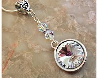 Swarovski Pendant Necklace, Swarovski Necklace, Clear Swarovski Crystal