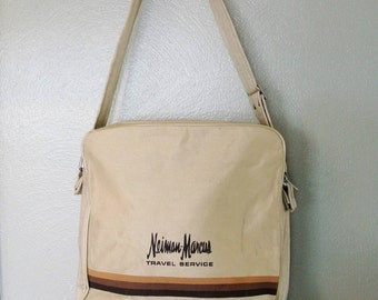1970s Neiman-Marcus Canvas Travel Bag