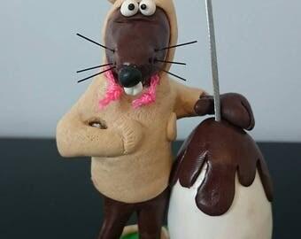 Easter special Locket Rat Pin