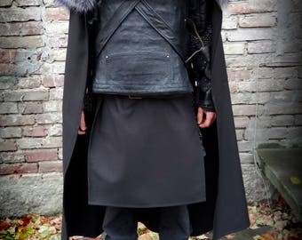 NIght's Watch cloak and chestplate ( larp and cosplay )
