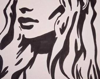 black and white drawing KALEESSI