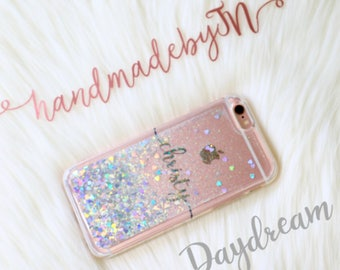 Moving Glitter Phone case iPhone 7 case iPhone 7 Plus case iPhone 6S case iPhone 6S Plus case iPhone 8 case iPhone 8 Plus case iPhone x case