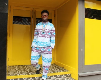 African Trousers - African Trackies - Lounge Pants - Allagi Joggers - Kente Trousers - Festival Clothing -Tribal Pants - Festival Trousers