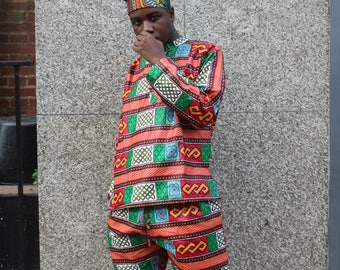 African Print Joggers - African Pants - Colouful Pants - Allagi Trousers - Trackies - Festival Clothing -Tribal Pants - Festival Trousers
