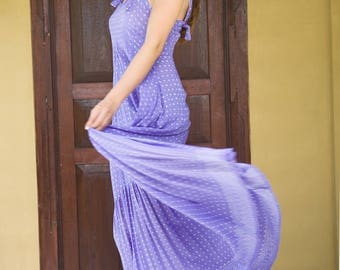 Olivia Dress, Romantic Dress, Feminine Dress, Summer Evening Dress, Maxi Dress, Purple Dress, 122-123