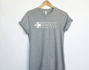 Grey Sloan Memorial Hospital T-Shirt - Grey's Anatomy T-Shirt - Meredith Grey - Derek Shepherd - Grey's TShirt