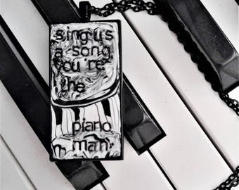 Billy Joel Piano Man Pendant Necklace