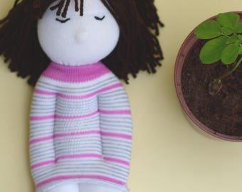 Handmade doll waldorf style.