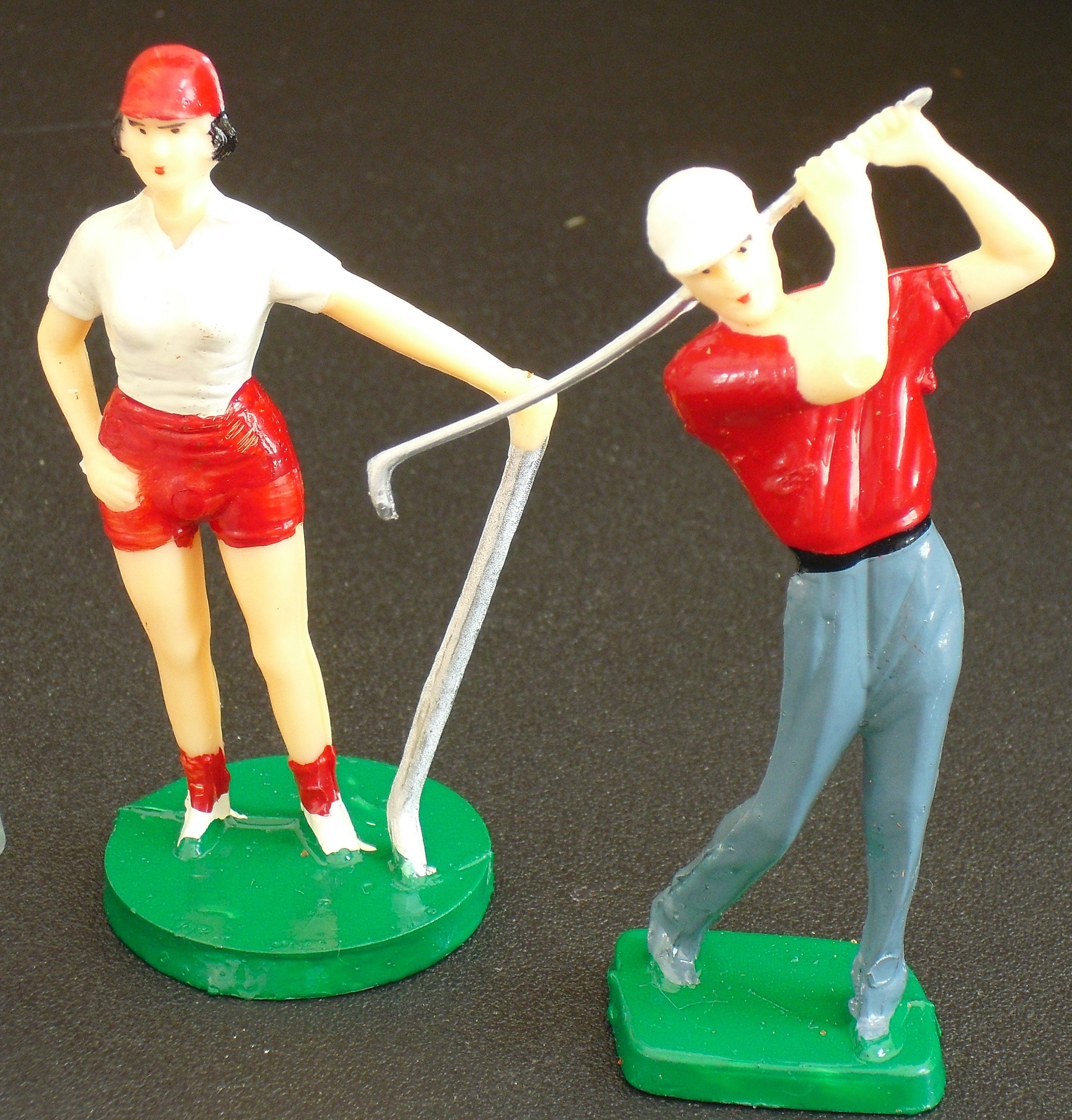 Cake Decorating Golf Figures : Vintage Golf Cake Toppers Decorations 4 Male Golfers 1