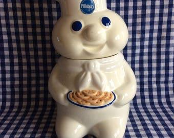 Vintage Pillsbury dough Boy cookie jar 1997 kitchen storage Container advertising