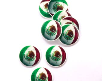 mexico ball flat back resin