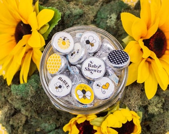 Bumble Bee Baby Shower Favor Decoration Stickers For Hershey Kisses BaBEE Spring