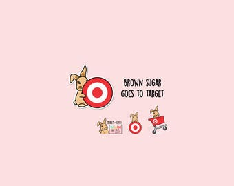 TARGET Haul Planner stickers / Target stickers, bulls-eye, target dollar spot, one spot, page flags, Target shopping | B4