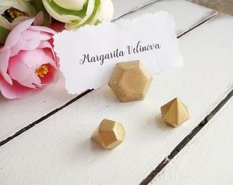 Diamond Geometric Wedding Place Card Holder Modern Boho Himmeli Name