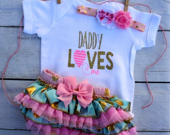 Baby Girl Clothes, Daddys Girl Outfit, Daddys Girl Bodysuit, Baby Girl Outfit, Baby Girl Hospital Outfit, Daddys Girl And Mommys World Top