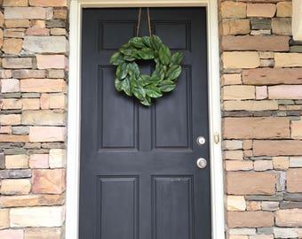 Magnolia Wreath, Faux Magnolia, Magnolia Leaf Wreath, Wreath, Year Round Wreath, Farmhouse Decor, Front Door Wreaths, farmhouse wreath