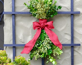 Mulholland Boxwood Swag  | Door Swag Christmas | Door Swag Wreath | Holiday Swag | Christmas Swag Decor | Christmas Swags for Front Door |