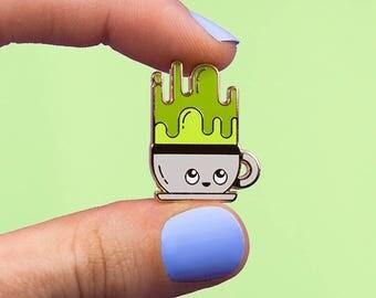 Matcha Buddy Pin