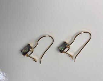 14k Yellow Gold Mystic Topaz Hook Earrings