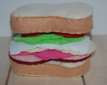 Felt Sandwich, Felt Food Set, Pretend Food, Indoor Play Ideas, Play Kitchen, Gift for Kids, Felt Play Food Set, Toddler Activities