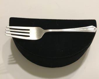 Vintage Silver Fork !!FREE SHIPPING!! Antique Silver Youth's Fork Sterling Silver Child's Fork Monogrammed Carole Flatware 925 Silver Fork