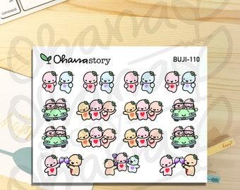 BUJI-110 | Buji Friends Outing | Hand-drawn Planner Stickers