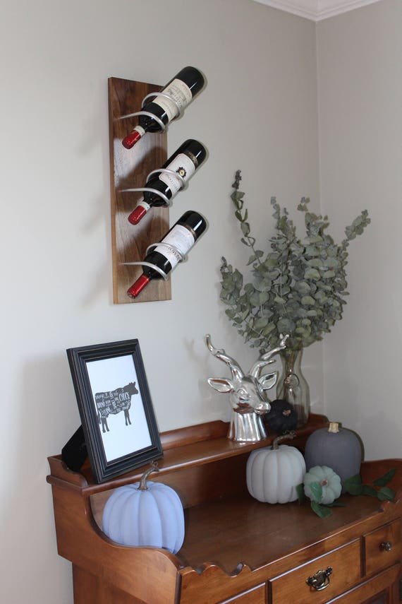 Wall mounted wine rack gifts for her modern home gift for Modern new home gifts