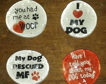I Love My Dog Magntes - Dog Lover Magnets - Birthday Gift
