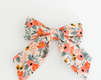 Sailor Bow in Rifle Paper Co.'s Rosa Fabric