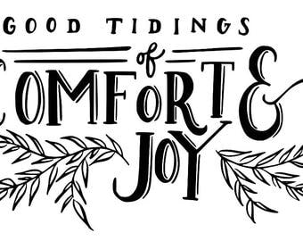 Good Tidings of Comfort and Joy svg,png and dxf files