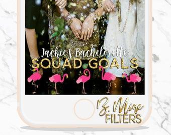 Snapchat Geofilter Bachelorette, Let's Flamingle, Last Flamingle, Bachelorette Party Snapchat, Flamingo Snapchat filter, Custom Snapchat