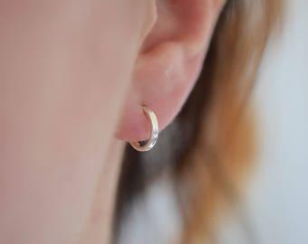 Small Hoop Earrings | Stud Hoop Earrings