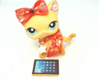 Littlest Pet Shop LPS custom outfit  clothes accessories lot * Cat not included *