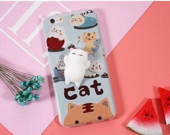 Cute Squishy Phone Case, IPhone 7 7 Plus, IPhone 6 6 Plus, Squishy Cat, Squishy Seal