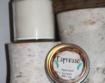 9oz Espresso Hand-Poured 100% Soy Wax Candle with Cotton Wick