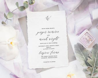 The Ginger Suite | Wedding Invitation Suite, Wedding Invitation, Romantic Wedding Invitation, Calligraphy Wedding Invitation
