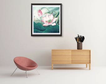 Chinese traditional painting reprint, lotus prints, Asian art, Art Poster, poster wall art, Office Decor, Home Decor Print LXM84