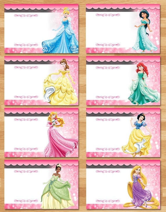Disney Princess Food Tents - Chalkboard - Princess Birthday Food Labels - Princess Birthday Party Buffet Tent - Princess Printable Placecard