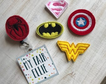 Superhero Badge Reel - Superhero Reel - Comics Reel - DC Comics Badge Reel