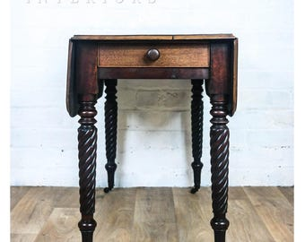 Pembroke Barley Twist Legs Drop Leaf Table